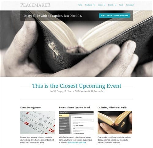 peacemaker church website templates