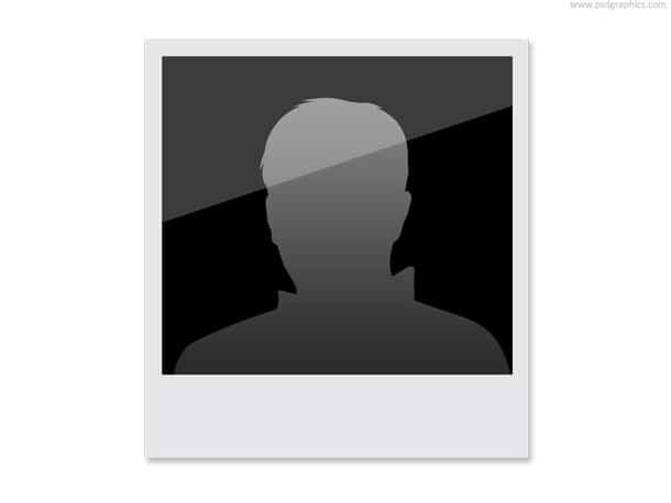 polaroid head silhouette