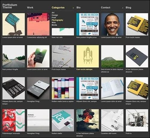 portfolium WordPress Photography Themes