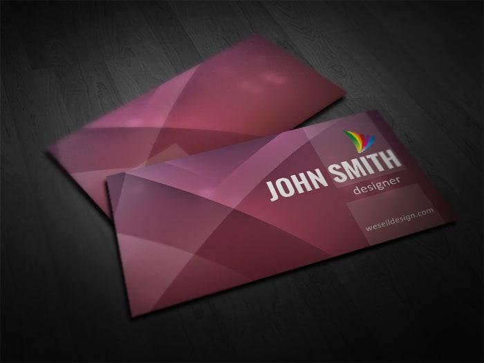Free Purple Business Card Template