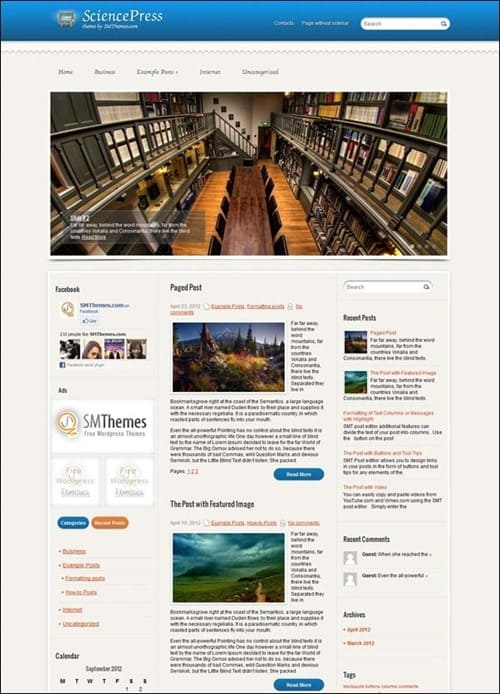 sciencepress education wordpress theme