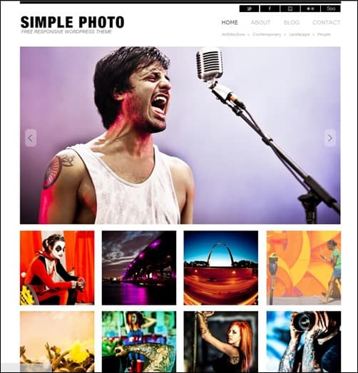 simple-photo WordPress Photography Themes