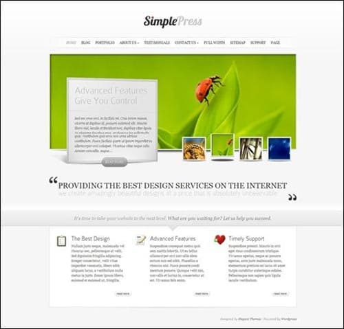 simplepress wp business themes