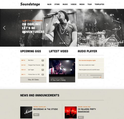 soundstage wordpress music theme