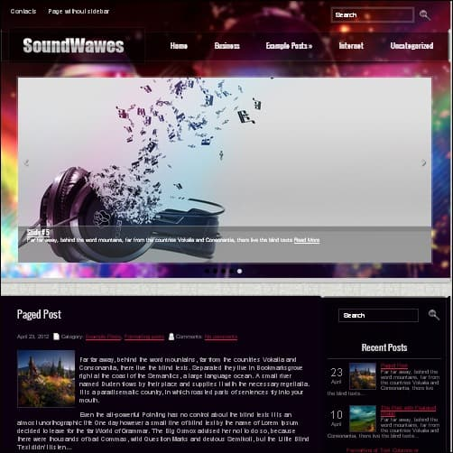soundwaves wordpress music theme