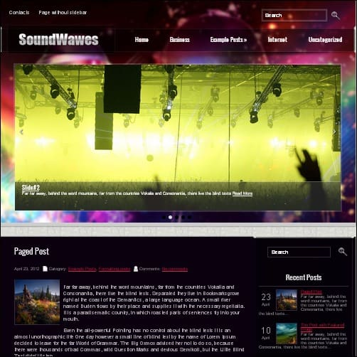 sounwavesse wordpress music theme