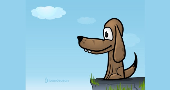 Puppy Dog Vector Illustration