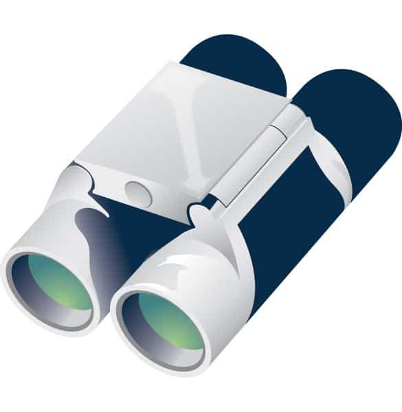 Modern Binoculars Vector Illustration