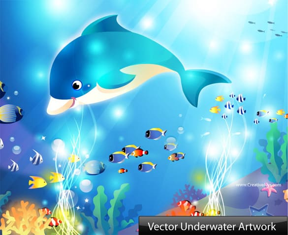 Creative Vector Underwater Artwork