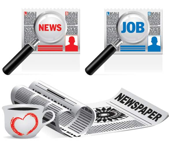 Classified News Vector Illustration