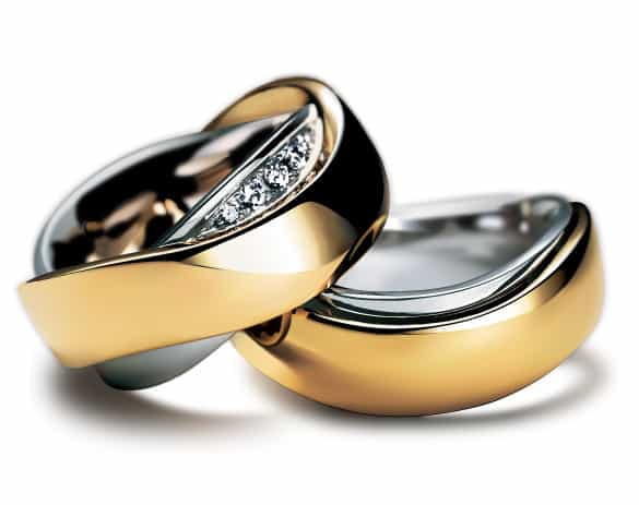 Realistic Wedding Rings Vector
