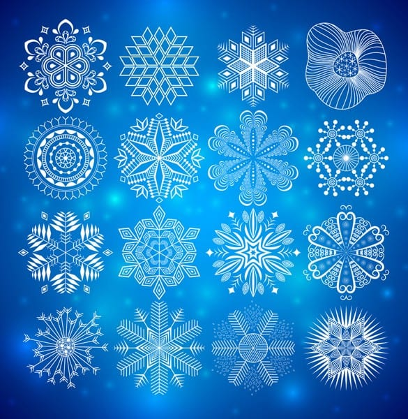 Exquisite Snowflake Style Vector Patterns