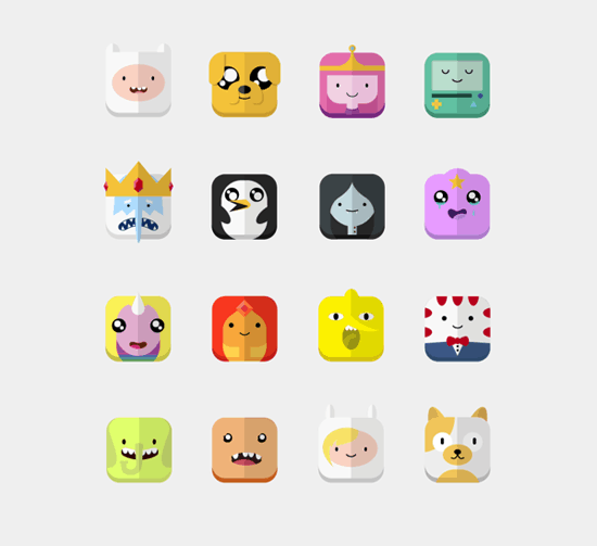 Adventure Time - Icons