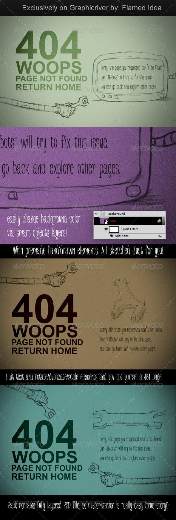 Costumizable Scribble Type 404 Page Error