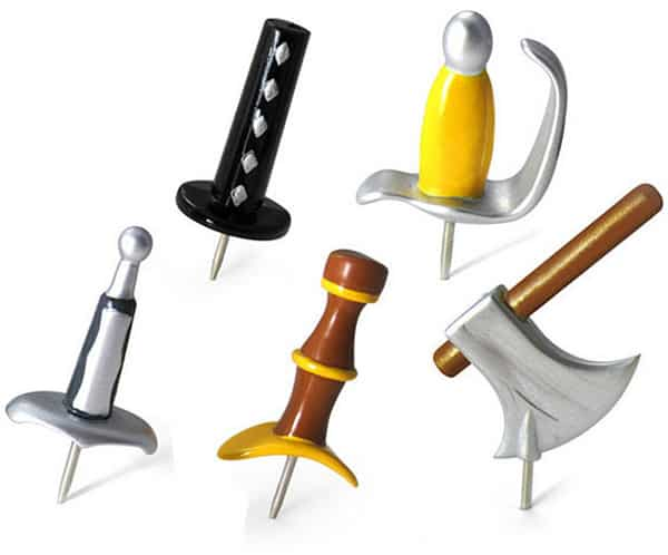 Medieval Weapons Push Pins ($9.99)
