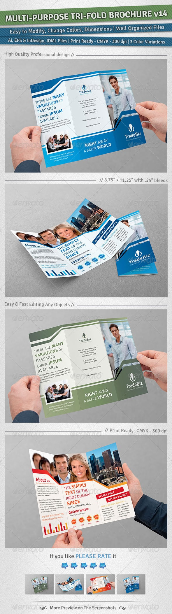 Multi-purpose Tri-Fold Brochure