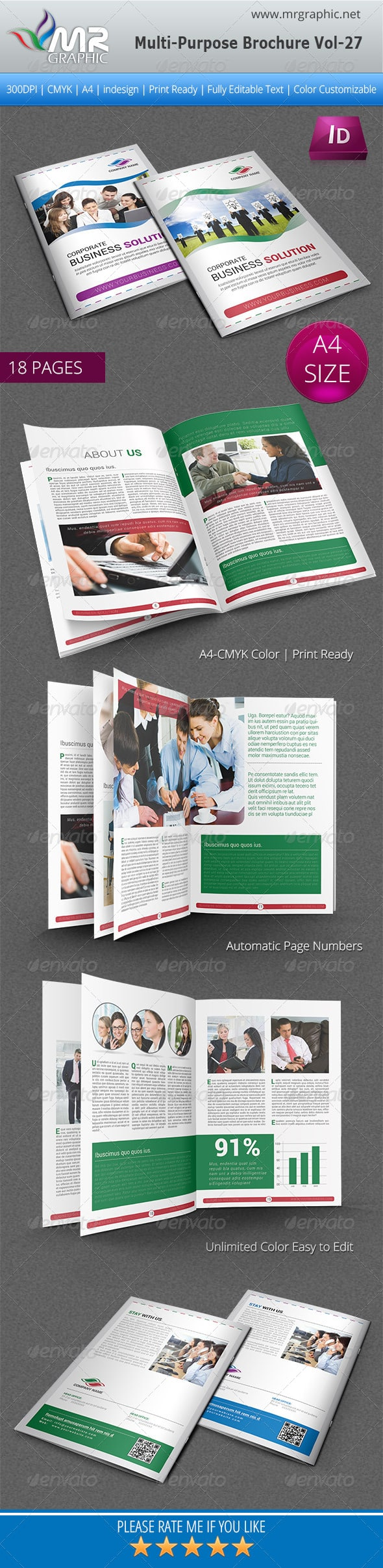 Multipurpose Business Brochure Template Vol-27