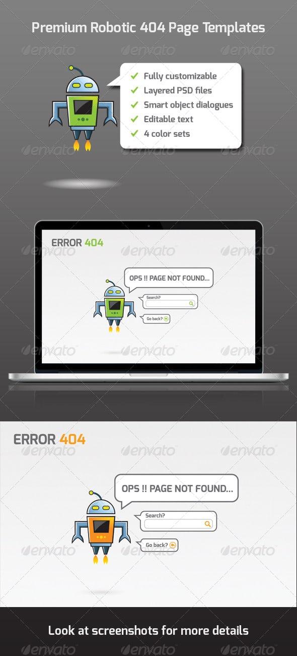 Premium Robotic 404 Page Templates