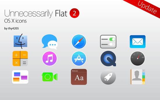 Unnecessarily Flat v2- icon set