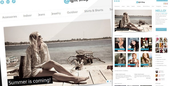 Aight shop opencart template
