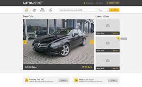 Auto market-vehicle market place template