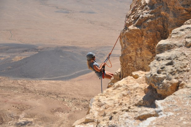 Rappelling-Mitzpe-Ramon http://www.pommietravels.com/2013/04/rappelling-mitzpe-ramon-crater-in-israel/