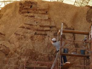 Mud brick arch in Canaanite Gate