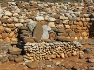 Stone idols at Main Israelite Gate