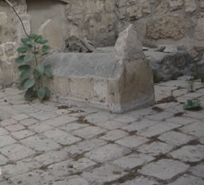 The graves of the two architects who were responsible for building the wall around Jerusalem.