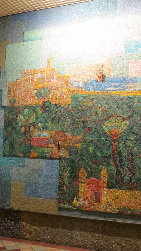 Nahum Gutman's Mosaic Wall - View to Jaffa