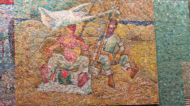 Nahum Gutman's Mosaic Wall - Workers eating watermelon