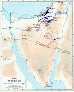 Conquest of Sinai 5-6 June 1967 during the Six Day War