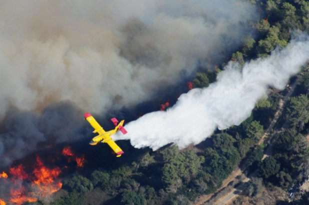Mount Carmel Forest Fire Aerial firefighting