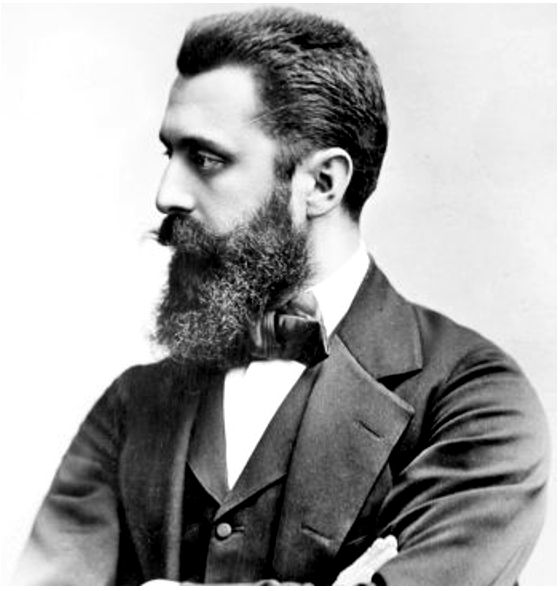 Theodor Herzl is considered the founder of the Modern Zionist movement. In his 1896 book Der Judenstaat, he envisioned the founding of a future independent Jewish state during the 20th century.