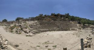 Roman Theater in Sebastia Jordanian archaeologists had also restored the Roman theater near the town Photo: Archipeleg