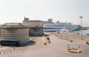 Civitavecchia fort and harbour today.