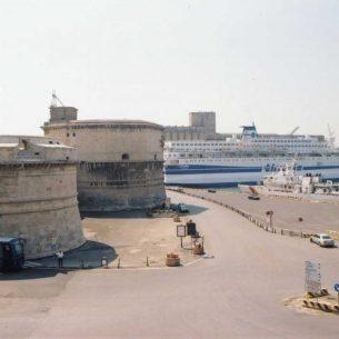 Civitavecchia fort and harbour today. - Public Domain