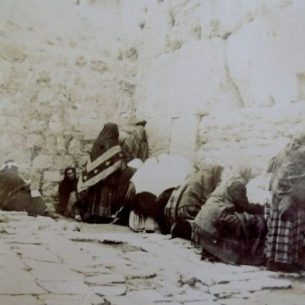 Jews' Wailing Place, Jerusalem, 1891