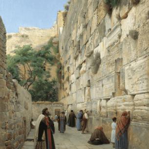 Wailing Wall, Jerusalem, by Gustav Bauernfeind (19th century).