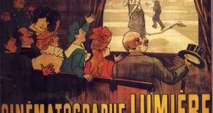 The world's first film poster, for 1895's L'Arroseur arrosé the poster realised as a sand sculpture The poster advertising the Lumière brothers cinematographe, showing a famous comedy (L'Arroseur Arrosé, 1895). Photo: Marcellin Auzolle (1862-1942)