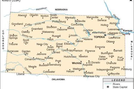 kansas map and kansas satellite images