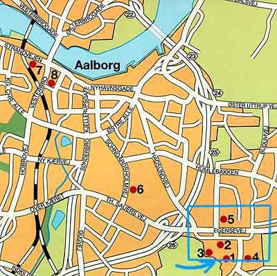 map of aalborg