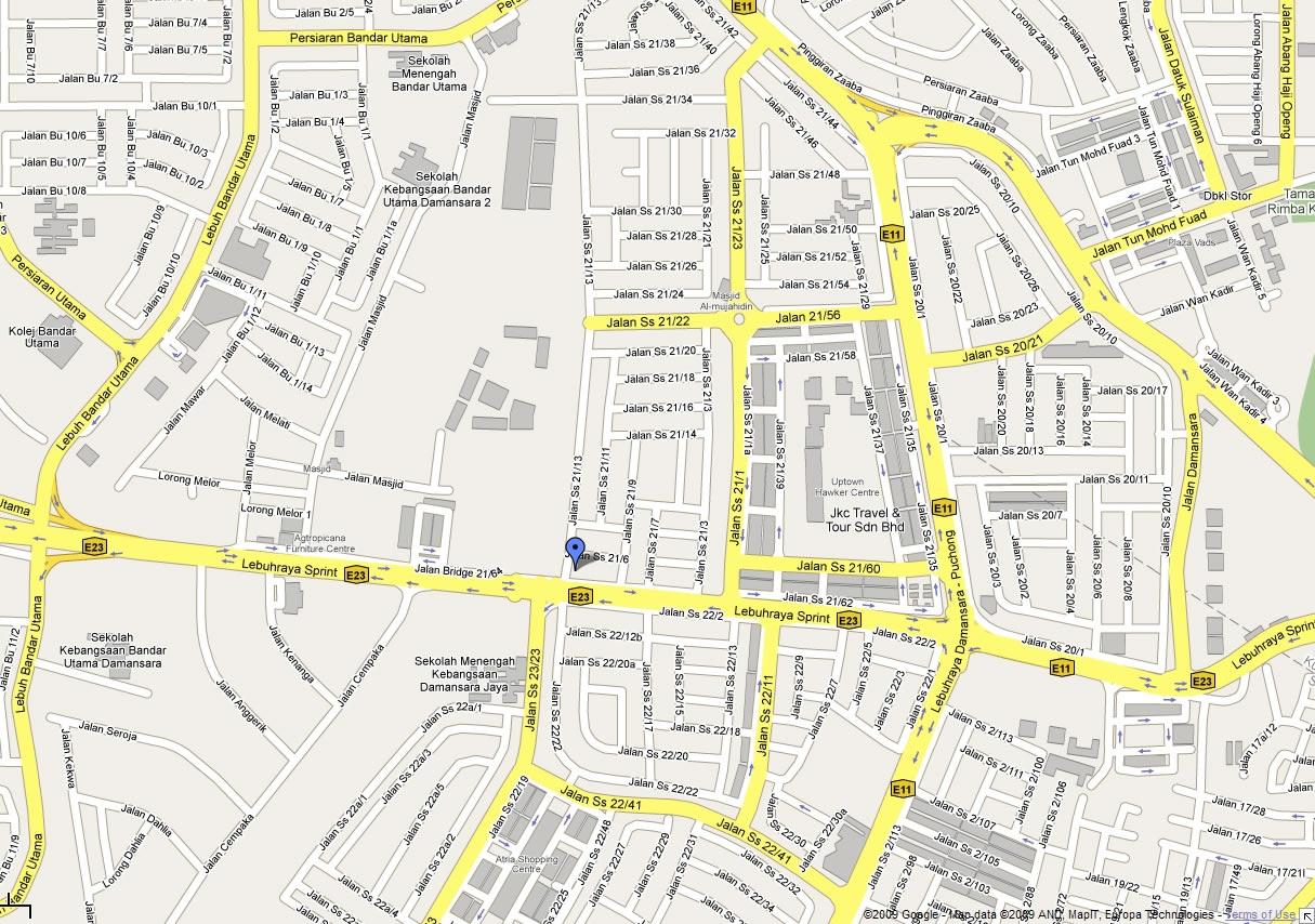 map to subang jaya