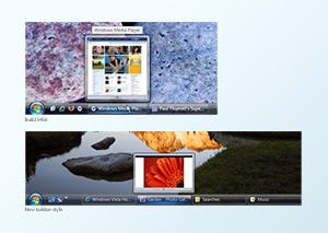 New Vista taskbar style