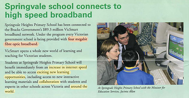 Victoria government school receives internet funding