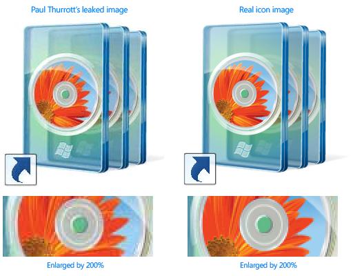 Paul Thurrott leaked image comparison