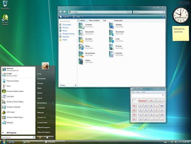 Windows Vista DPI scaling comparison