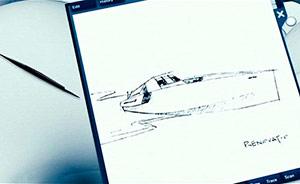 Boat sketch - Dr. Merrick's Desk