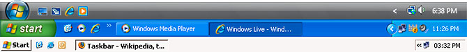 Windows taskbars