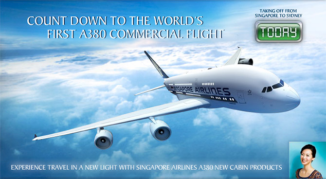 Count down to the world's first A380 commercial flight